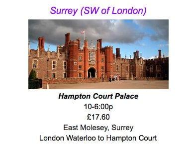 travel itinerary planner hampton court palace