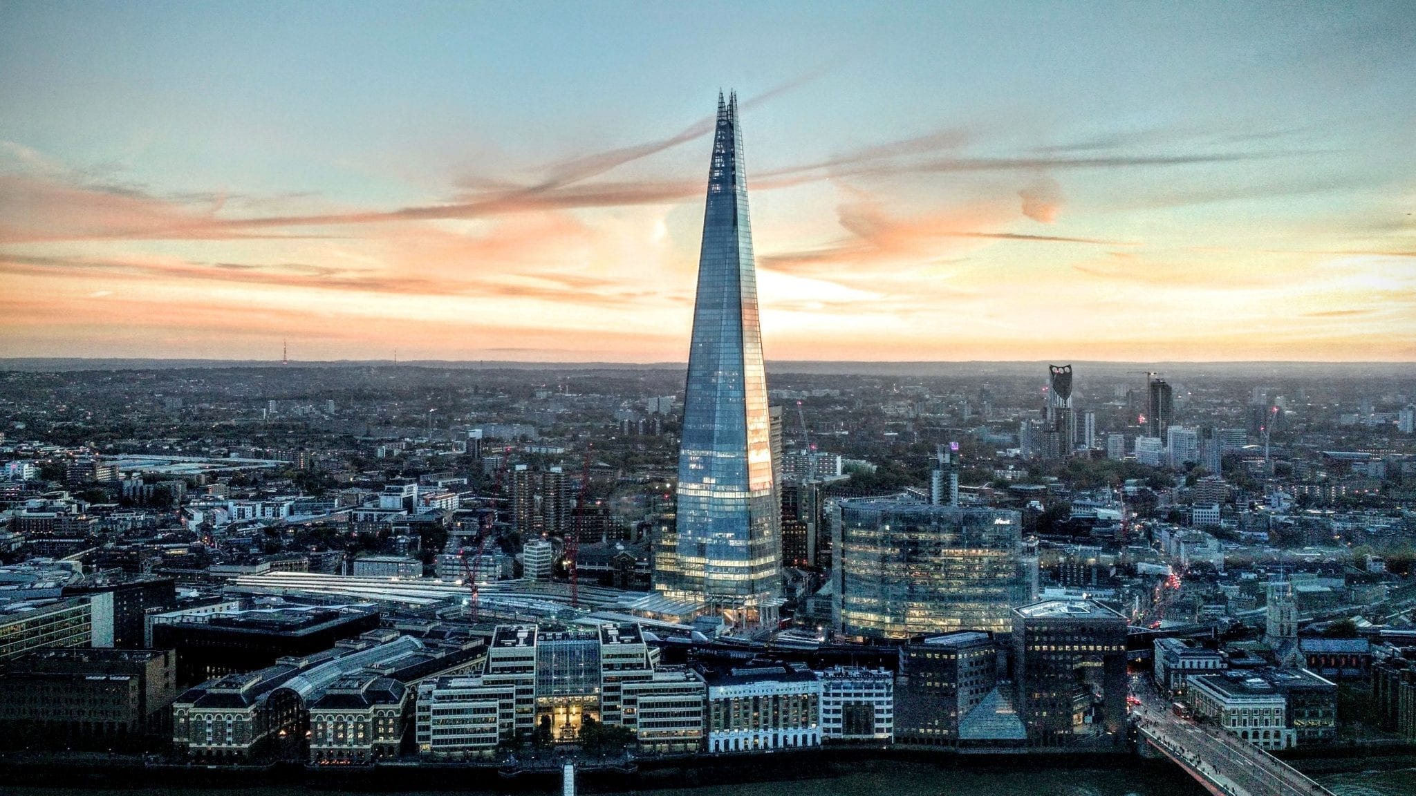 visiting the shard view of london england