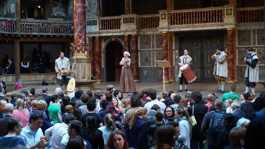 Shakespeare's Globe performance london
