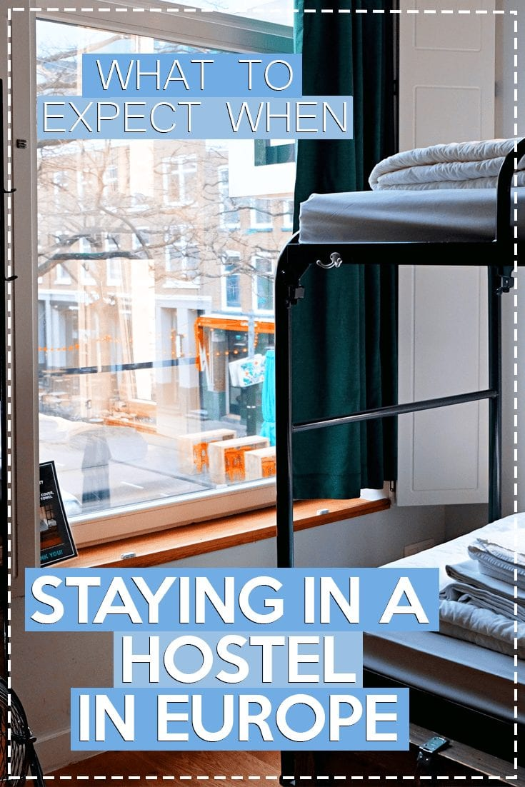 staying in a hostel