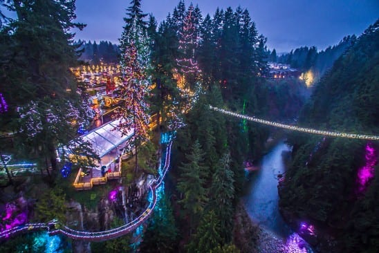 capilano suspension bridge lights