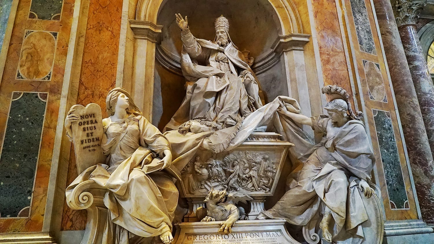 Statues Inside St Peter's Basilica